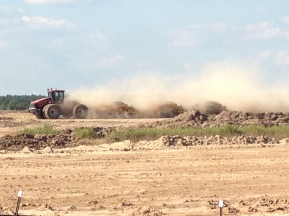 Dirt work has begun at King Crossing in Katy, TX.